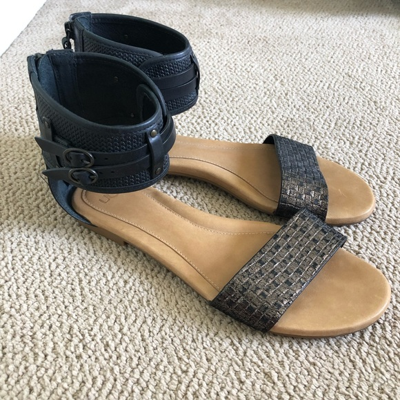 44c1038f527 Ugg Savana Metallic Gladiator Sandals Leather
